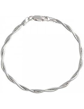 Edles 3mm breites Unisex Armband / Armkettchen aus Sterling Silber, 18cm Länge