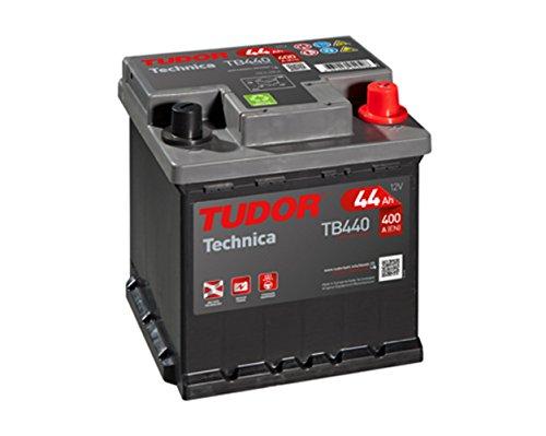 Exide Tudor Technica 44Ah, 12 V. Dimensioni: 175 x 175 x 190. Faretto derecha. auto 15% batteria più potente che gli standard.