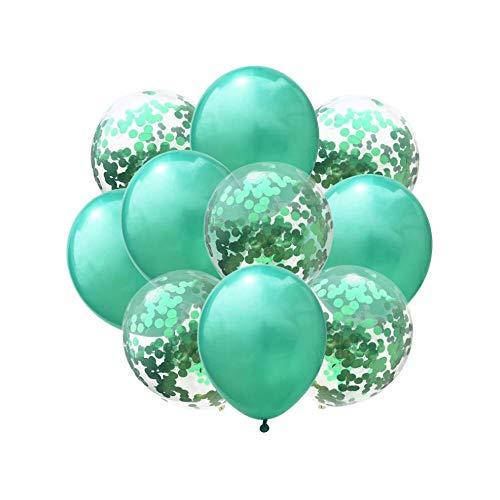fetti Luftballon Set für Geburtstag Feier Jubiläum Hochzeit JGA Party Deko Ballons Grün ()