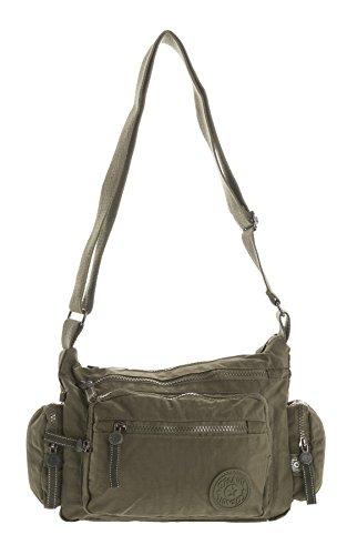 Big Handbag Shop, Borsa a tracolla donna Messenger Style 1 - Army Green