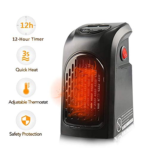WWSZ Calentador eléctrico pequeño Mini Ventilador Calentador portátil Heate Relectric Fan Handy Calefactor para Oficina Casa Habitación de Hotel de 350 W