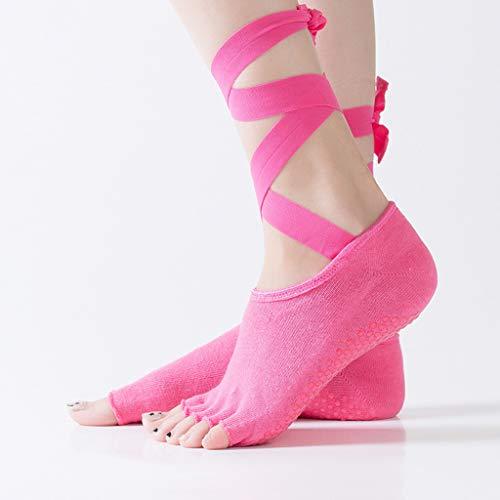 TTLOVE Frauen Yoga Zehen Warme Socken FüNf Finger Rutschfeste Massage Sport Lace-Up Socke Haltbarkeit Low Cut Socks - Lace-up-socken
