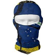 Jxrodekz Pasamontañas máscara facial vintage Brasil bandera capucha motocicleta mascarilla protección UV ...