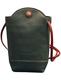 Amlaiworld Bolsas de mensajero de mujer Bolsa de viaje Bolsas de hombro Slim Crossbody Bolso pequeño (Verde, 11cm*6cm*20cm)