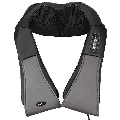 Ecotec Nacken Massagegerät für Schulter Rücken mit 3D Massageköpfen Wärmefunktion Individuelle Einstellungsmöglichkeiten für Zuhause Auto