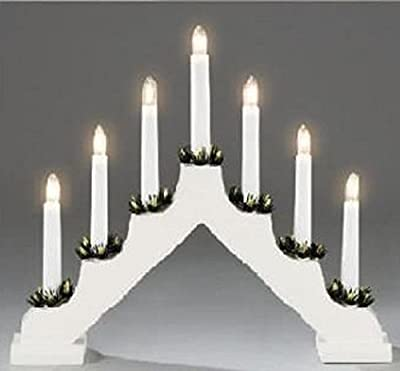 BNL 7 Indoor White Candle bridge V-Shape Window Decoration