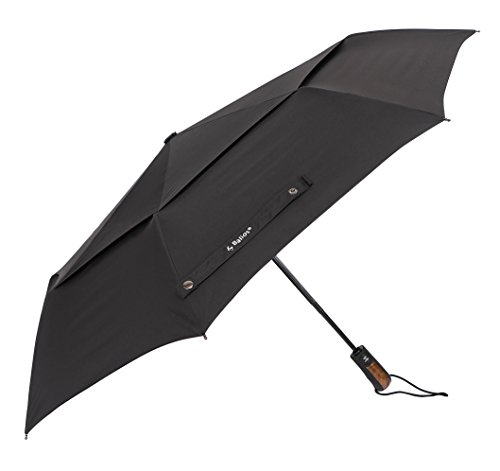 Designed-in-Britain-Handmade-Real-Wood-Handle-Optional-Balios-Double-Canopy-Umbrella-Auto-Open-Close-Vented-Windproof-Fiberglass-Frame-300Thread-Finest-Fabric-Uniquely-Strong-Mens-Ladies