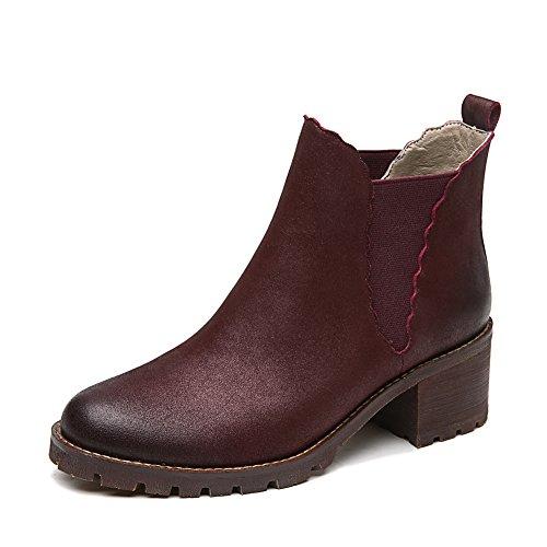 Bottes Lady/Bottesenprintemps et automne /Grossier avec semelle épaisse short boots/Bottines A