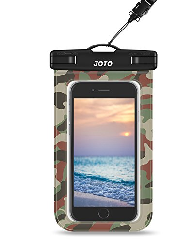 """Universal Wasserdichte Hülle, JOTO Handy trocken Tasche für iPhone XS Max/XR/X/8/7/7 Plus/6S Plus, Samsung Galaxy S9 S8 Plus/Note 9 8 6 5, Huawei Mi Moto Pixel, bis zu 6.0"""" -Grünes Camo"""