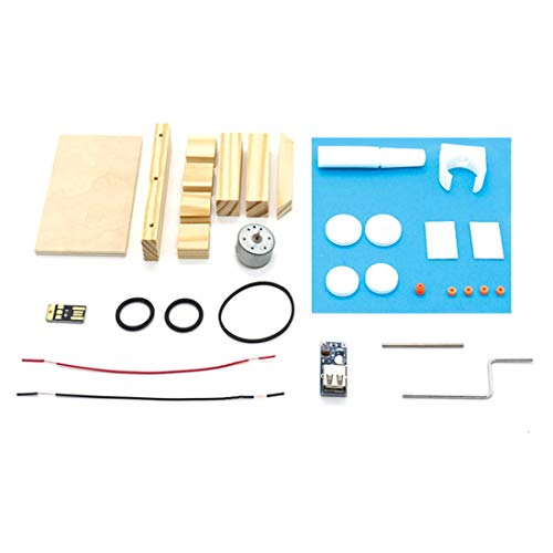 Generador de Bricolaje a Mano Conjunto de Materiales Dinamo de Mano Ensamblaje de generador eléctrico Manual Juguete Educativo Niños Graciosos Niños Juguete Artesanal - Color Madera