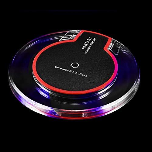 Neue drahtlose Ladestation Ladegerät Kristall runde Ladestation mit Empfänger für iphone samsung Samsung Portable Receiver