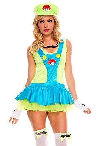 Fancy Me Damen Sexy Super Mario oder Luigi -