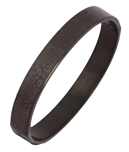 The jewelbox Surgical Stainless Steel Designer Black Oval Macho Kada Bracelet for Men  available at amazon for Rs.884