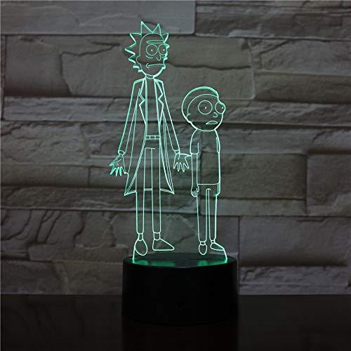 wangZJ 3d lámpara visual/ilusión óptica llevó la luz de la noche /...