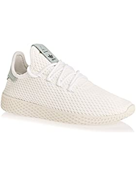 adidas Originals PW Tennis White/Green Textile Youth Trainers
