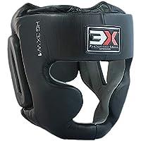 3X Sports Headgear Boxing Pro leather HeadGuard Training Boxing Helmet Kick Boxing Headgear(MMA Martial Arts Kick Face UFC Fight Training Headgear)