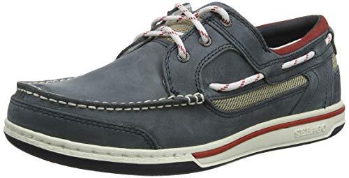 Sebago Herren Triton Three Eyelets NBK Schuhe, Blau (Blue Navy), 43 EU - Dockside Casual Schuhe