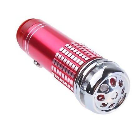 MEDIA WAVE store Ionizzatore purificatore d'Aria Deodorante per Auto (Rosso)