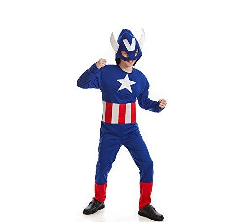 Costume da Capitan America Stella bambino G-(9/11 anni)