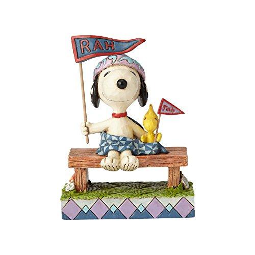 ENESCO Peanuts by Jim Shore Figur Snoopy and Woodstock Bleacher Buddies, 10,8 cm, Mehrfarbig