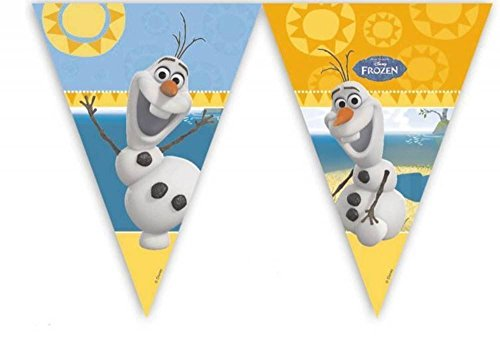 Disney 9ft Frozen Wimpelkette Flaggen mit Sommer Olaf (Dekorationen Disney Party Frozen)