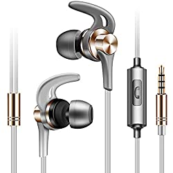 Universel 3.5mm in-Ear Excellente Basse Stéréo Métallique Écouteur Sport Casque avec Écouteur pour Téléphone par Anliyou