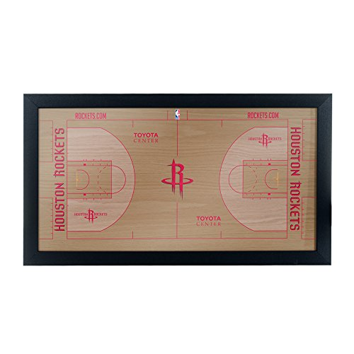 Hr Gerahmt (Trademark Global Markenzeichen Gameroom Houston Raketen Offizielle NBA Court gerahmt Plaque)