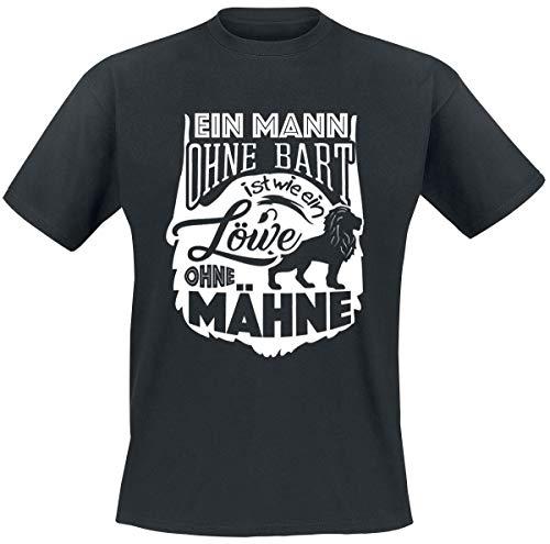 Ein Mann ohne Bart ist wie ein Löwe ohne Mähne T-Shirt schwarz M