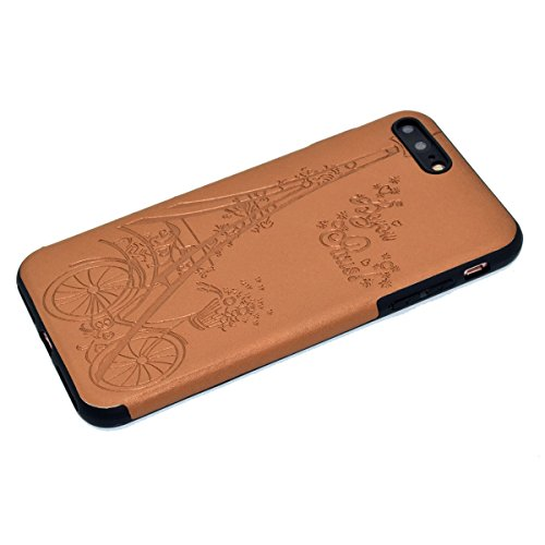 Custodia inShang cover per iPhone 7 Plus 5.5 Cellulare,super slim e leggero TPU materiale Cover posterior stili per iPhone7 Plus 5.5 inch Brown Tower