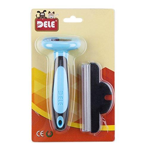 Hundebürste für Unterfell-Pflege 10cm (blau) | Inclusive Gratis Abstract | Auch für Fellpflege und deShadding bei Katzen Geeignet - 5