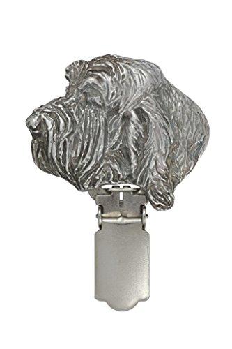 Grand- Basset Griffon, Silberstempel 925, Hund clipring, Hundeausstellung Ringclip/Rufnummerninhaber, limitierte Auflage, Artdog