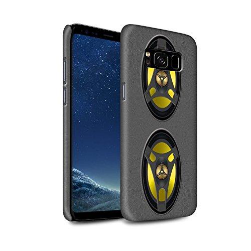 Stuff4® Matte Snap-On Hülle/Case für Samsung Galaxy S8/G950 / Stereoanlage Muster/Lautsprecher Design Kollektion