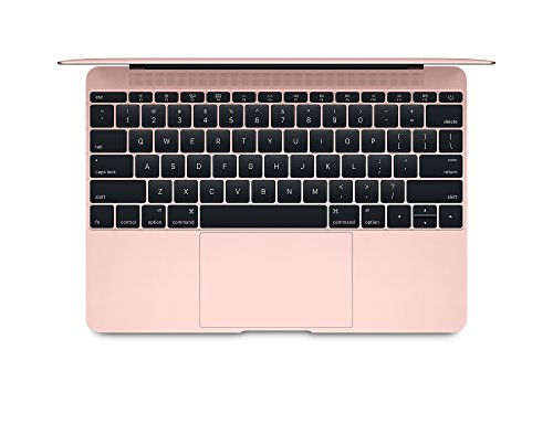 Apple MacBook 12-inch Laptop (Intel Core m3 1.1 GHz, 8 GB RAM, 256 GB SSD, Intel HD Graphics 515, OS Sierra) – Rose Gold – 2016 – MMGL2B/A – UK Keyboard