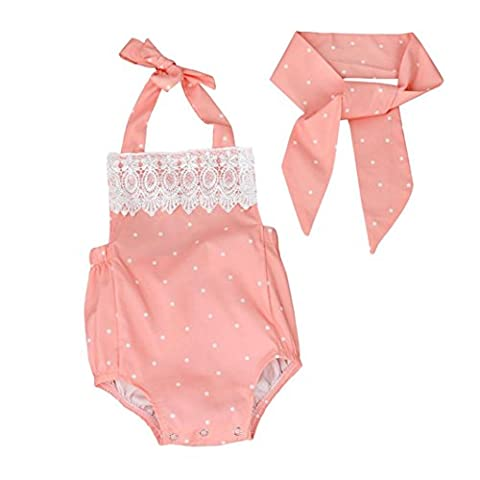 Baby Girl Byste Toddler Baby Girls Romper Jumpsuit Playsuit Infant Headband Clothes Outfits Set