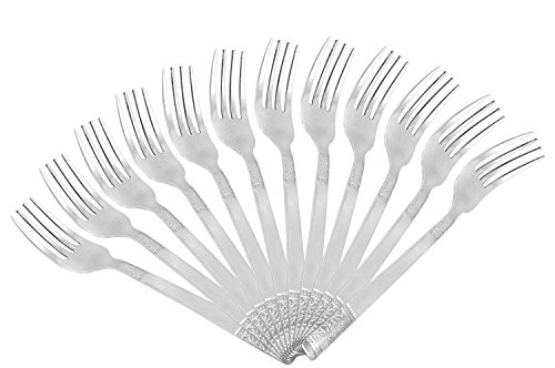 Shapes Floral Dinner Fork 12Pcs  available at amazon for Rs.486