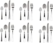 Winsor 24-Piece Stainless Steel Cutlery Set with Stand WR4000-24PL
