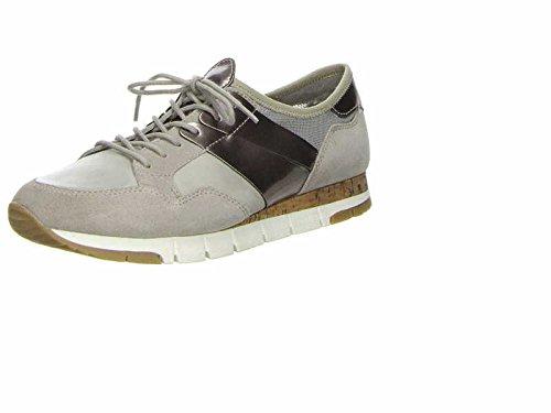 Tamaris 23615-28 238 Damen Sneaker Lack- und Stretch-Einsätze leichte Laufsohle