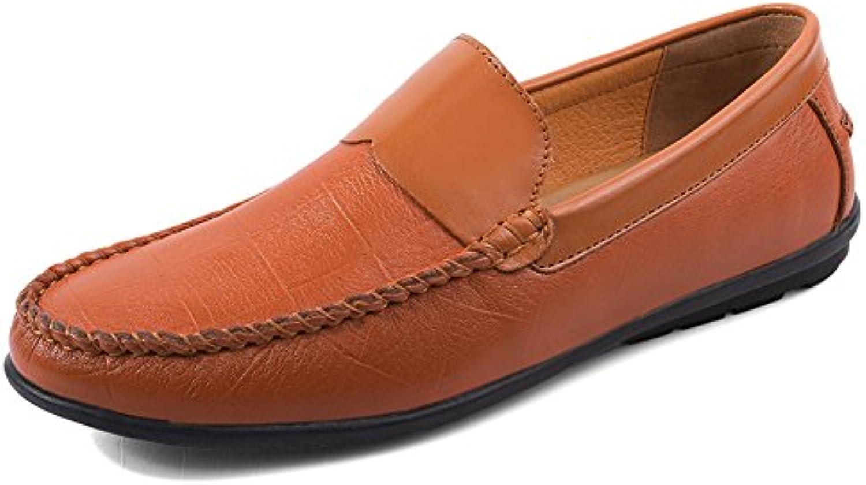 Q MSKAY Herren Mokassins Handgemachte Freizeit Einfacher Business Schuhe Bequem Formal Slip on