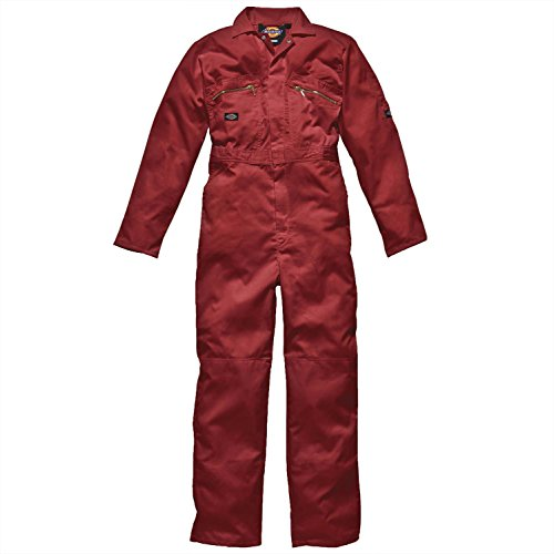Rot Kinder Punk Kostüm - Dickies Redhawk Zipped Coverall - Red - 48R