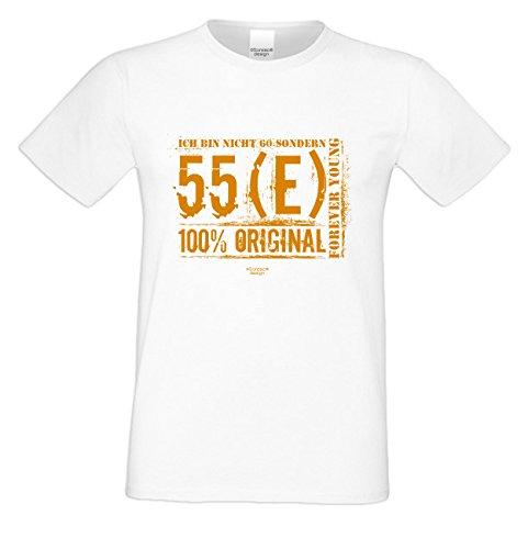 Geschenkidee für Männer - Herren Fun T-Shirt zum 60. Geburtstag - Tolle Geschenkidee - super Sprüche - auch in Übergrößen erhältlich Ich bin nicht 60 Farbe: weiss Weiß