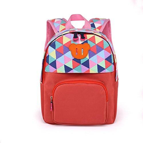 Liling Kindergarten Baby Taschen Schultaschen für Jungen und Mädchen Kinder Taschen Outdoor-Rucksack (Color : Orange)