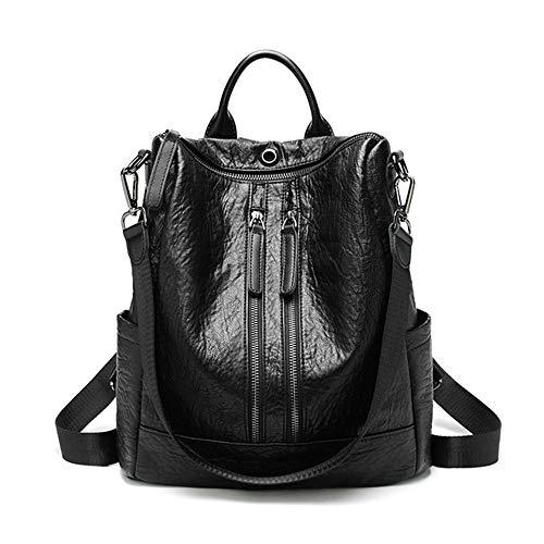 Dooney Frauen Handtasche (Ttzz 2019 weiblichen Rucksack Feminina Casual multifunktions Frauen Leder Rucksack weiblichen umhängetasche Reise Rucksack schwarz31 * 29 * 13,5 cm)