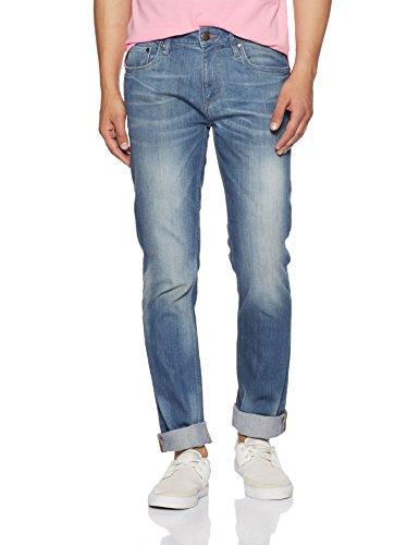 Jack & Jones Men's Tim Slim fit Jeans (1964056004_Medium Blue Denim_38/34)