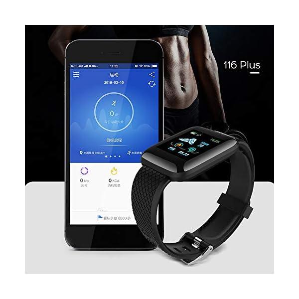 Smart Fitness Tracker Watch, IP67 Impermeable Reloj Inteligente con Contador de Pasos Monitor de sueño, podómetro Reloj para Hombres Mujeres niños 3