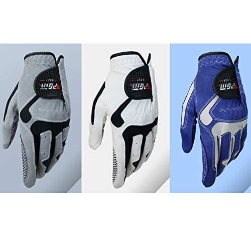 Preisvergleich Produktbild rutschfest Golfhandschuhe Herren Anti-Rutsch-Handschuhe Single Left Microfiber Cloth Sports Gloves gemütlich (Color : Blue / left-25)