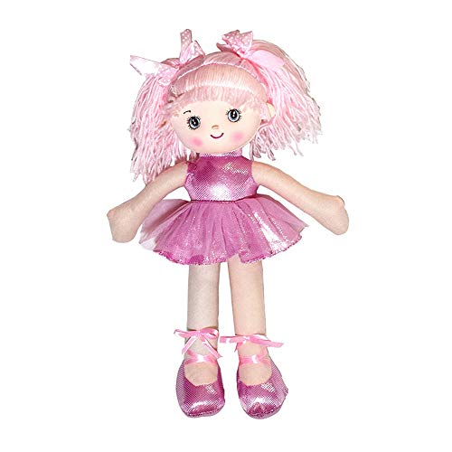 Lebeaut Ballerina-Puppe für kleine Mädchen 15,7 Zoll weichem Plüsch gefüllt Prinzessin Ballett Puppe Spielhaus Spielzeug Geburtstagsgeschenke Rosa