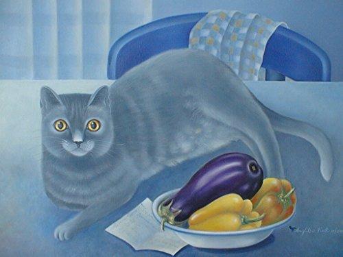 kchenstilleben-mit-einkaufszettel-und-katze-tierportrait-meines-kartuserkaters-niko-malerei-in-lfarb