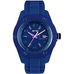 ene-watch Damen-Armbanduhr Analog, Model: 107 42 / 720000115, Silikon Armband