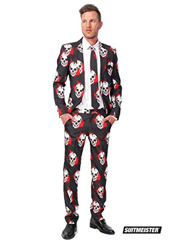 Costume Mr. Skull ensanglanté homme Suitmeister Halloween Taille M