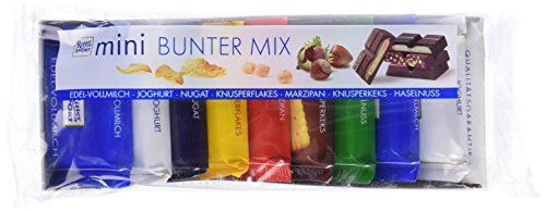 Price comparison product image Ritter Sport Mini 9 Chocolate Bars Pack